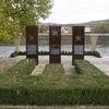 Le Mémorial des accords de Shengen face à la Moselle
