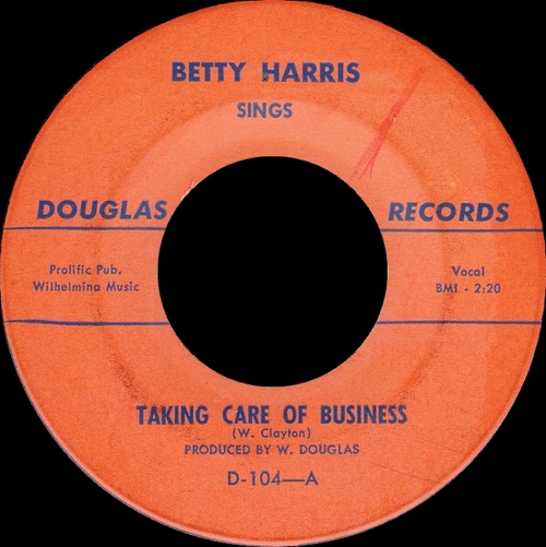 "Betty Harris : CD "" The Early Years Singles 1961-1965 "" Soul Bag Records DP 28 [FR]"