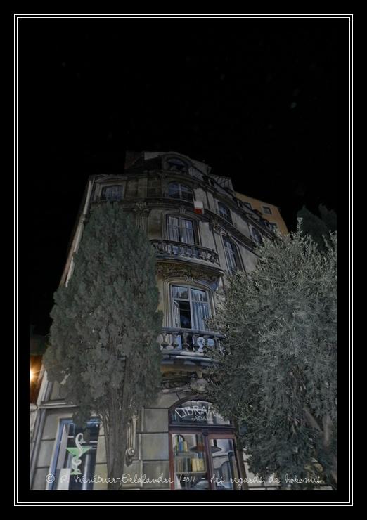 Montpellier by night - Trompe l'oeil dans le centre historique