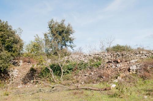 Cheminc Garenc début du mur avant dégagement