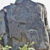 Nouveau Mexique- Pétroglyphe de l\'homme oiseau