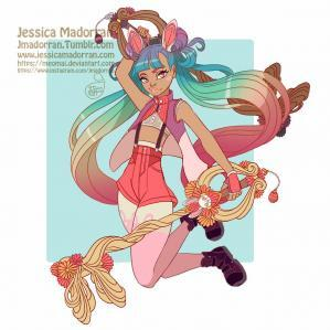 Jessica madorran character design bunny day 05 kingdom hearts 02 2019 artstation