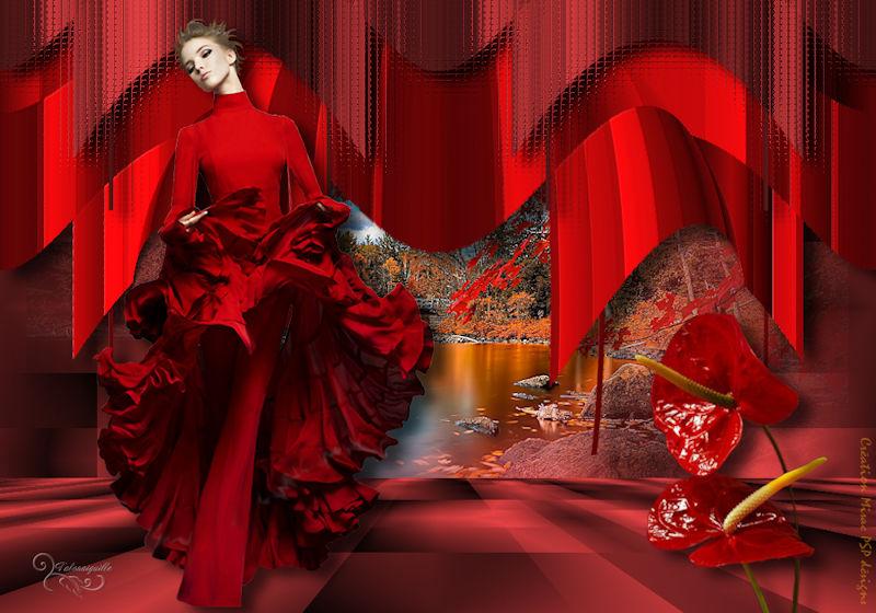 *** L'Élégance en rouge ***