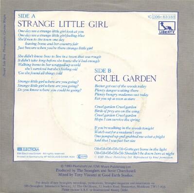 Les SINGLéS # 93: The Stranglers - Strange Little Girl (1982)