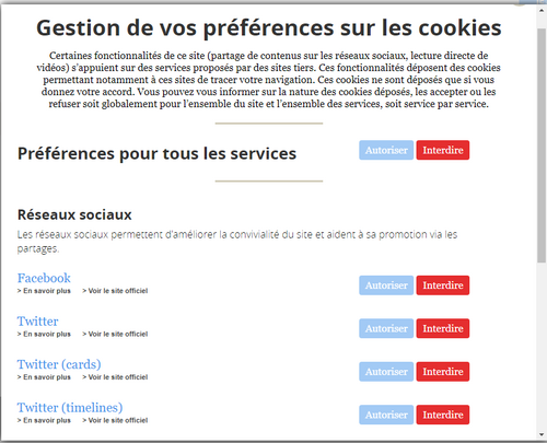 gérer les cookies sur le net