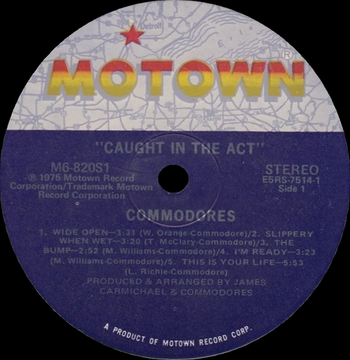 "The Commodores : Album "" Caught In The Act "" Motown Records M6-820S1 [US]"