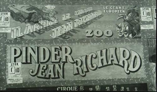 affichage du cirque Pinder Jean Richard (archives Jean Arnaud)