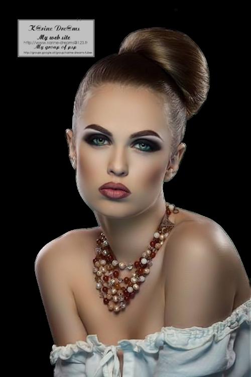 Tube Femme Portrait
