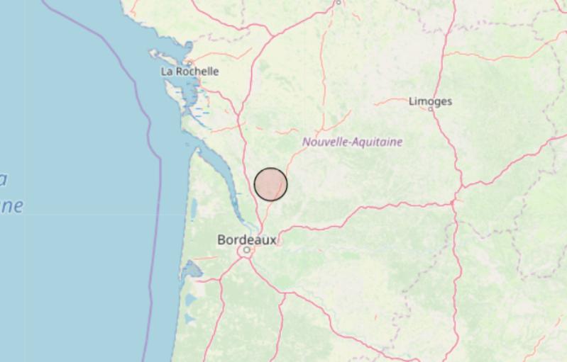 Gironde: Un tremblement de terre de magnitude 4,9 ressenti à la frontière avec la Charente-Maritime
