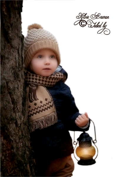 Tubes enfants hiver création 3
