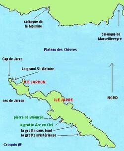 Les iles de l'archipel de Riou, Jarron et Jarre