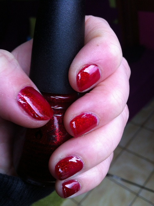 Nat : China Glaze 182, Ruby Pumps