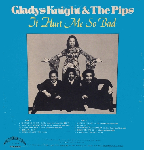 "Gladys Knight & The Pips : Album "" It Hurt Me So Bad "" Trip Records TLP-9509 [ US ]"