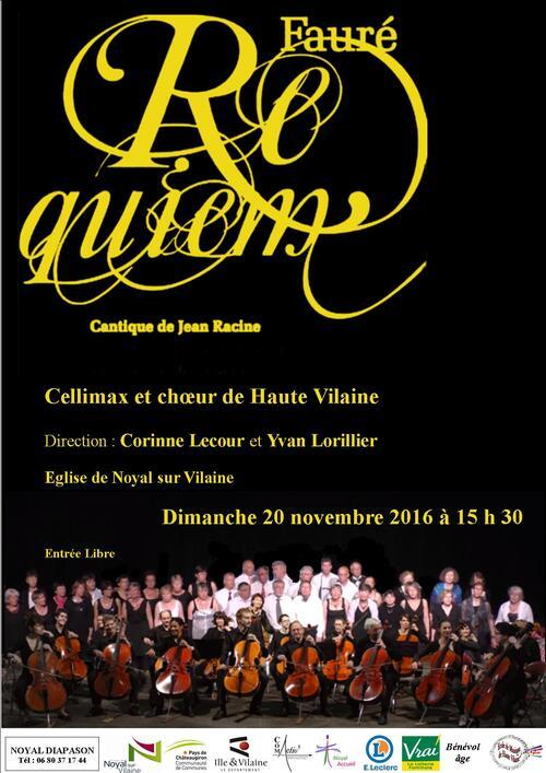 - 20/11/2016 : Concert Cellimax et le choeur de Haute Vilaine