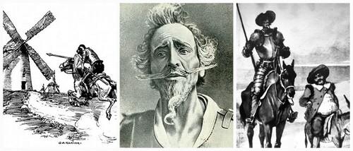 """C'est déstabilisant, loufoque, un brin débile notre façon de construire notre Histoire farfelue de """"Don Quichutte """" sur un roman de chevalerie usé (mon œil !!) et rocambolesque (ça oui!) Don Quichotte"""