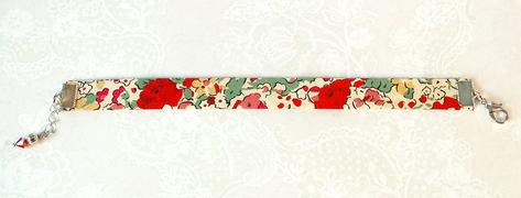 - Bracelets biais tissu liberty simples