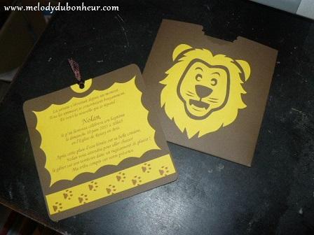 Faire part thème lion