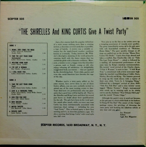 """The Shirelles & King Curtis : Album """" Give A Twist Party """" Scepter Records LP-505 [ US ]"""