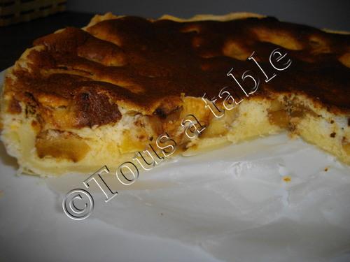 Cheesecake aux pommes rissolées