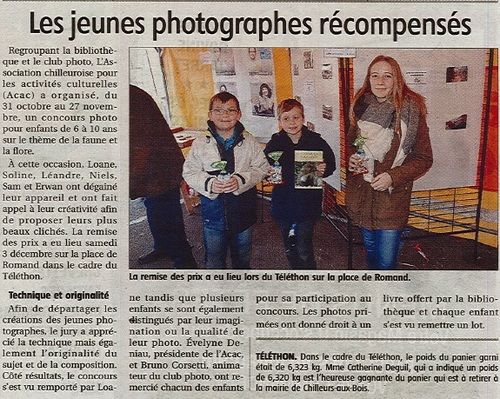 article concours photos