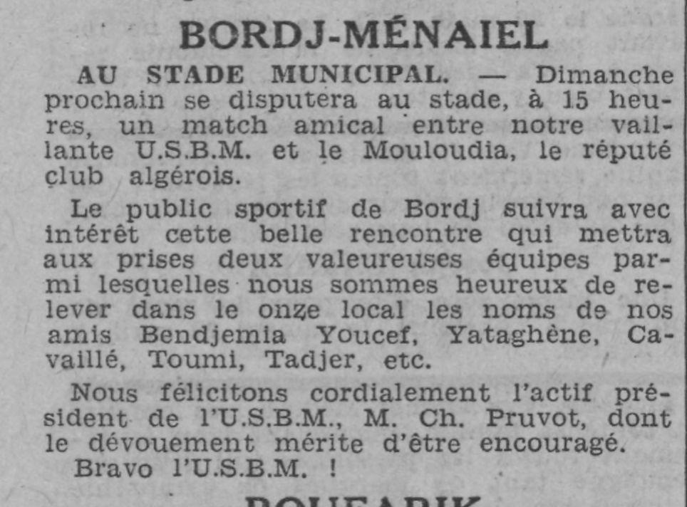 MCA à Bordj Ménaiel