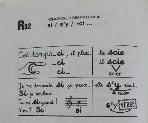A / Le mot SI et ses homophones