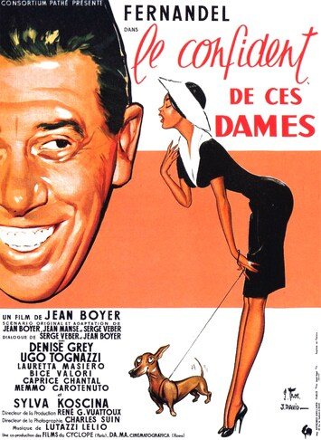 LE CONFIDENT DE CES DAMES -  FERNANDEL BOX OFFICE 1959