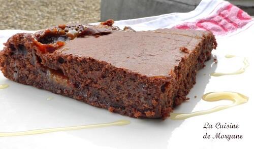 Gateau au chocolat et caramel beurre salé