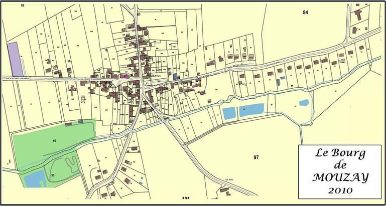 Plan de la commune de Mouzay en 2010