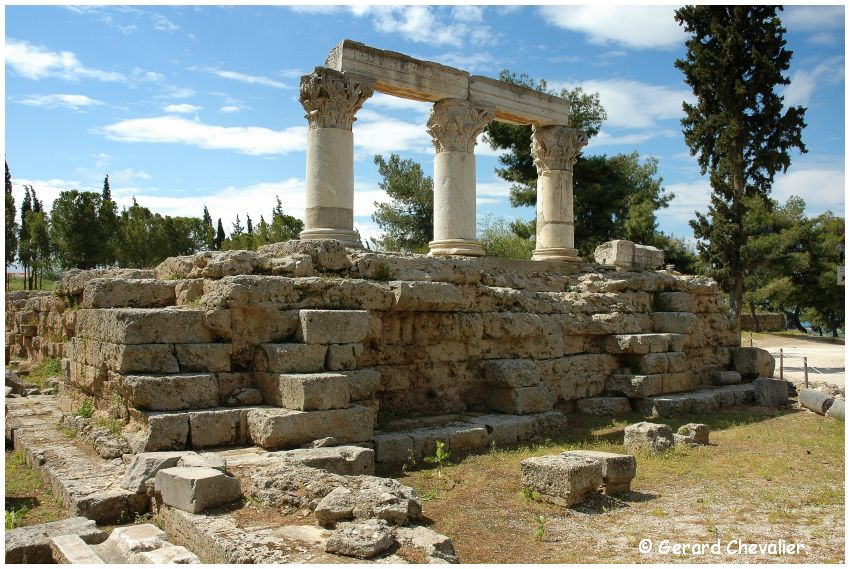 Ancien Corinthe - Temple d'Octavia. #2