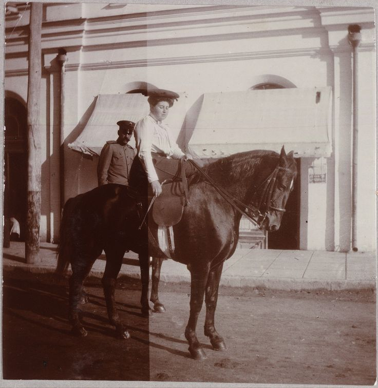 Anna Vyrubova on a horse…I like her because her story and relationship with the empress is fascinating!