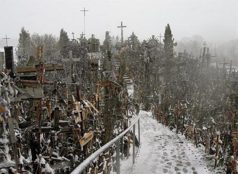 colline des croix en Lithuanie