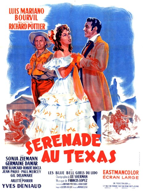 SERENADE AU TEXAS - BOX OFFICE BOURVIL 1958