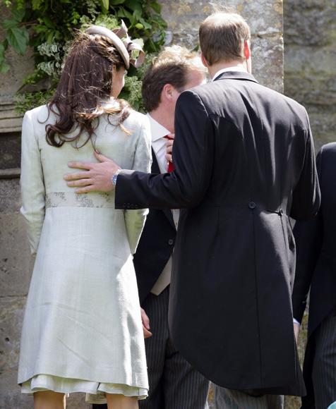 Kate, William et Harry à un mariage