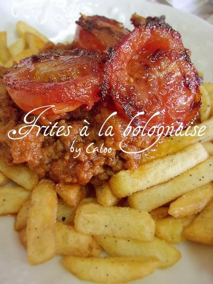 Frites à la bolognaise