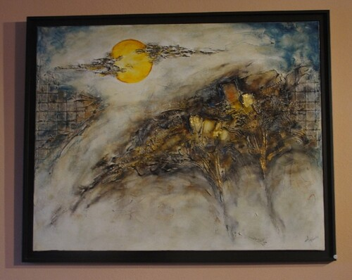 Le peintre Arthure à Chamesson