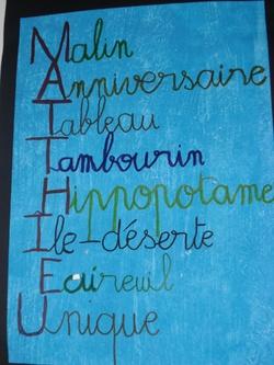 Nos prénoms en acrostiche