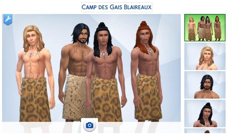Le camp des Gais Blaireaux :