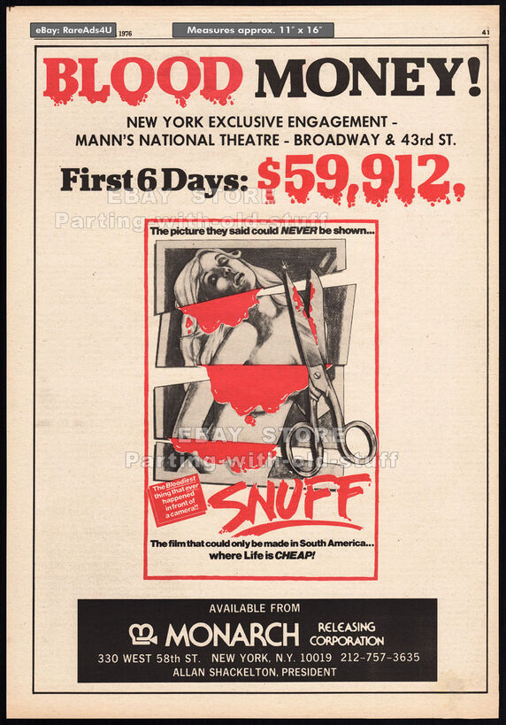SNUFF BOX OFFICE 1976