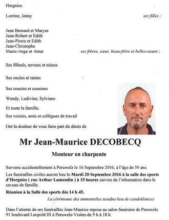 Pensées pour Valentin et Jean-Maurice...