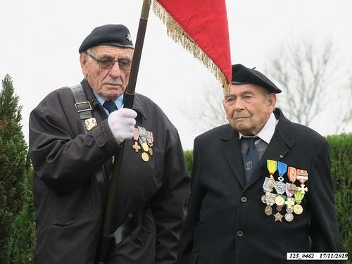 * cérémonie du 75ème anniversaire de la Libération, à la Stèle du 4ème Choc de Cluny, à Frahier-Les-Barres.