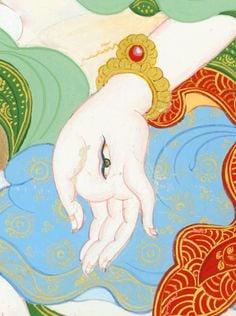 Tara la Blanche (détail, main)