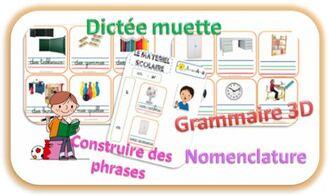 grammaire 3D-nomenclature-construire des phrases