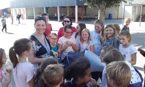Visite surprise à l'école Sainte Anne !