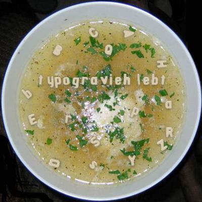 Bild Buchstabensuppe