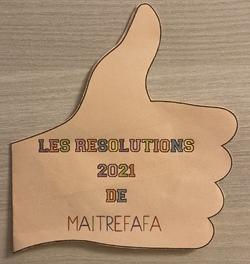 Des résolutions pour 2021