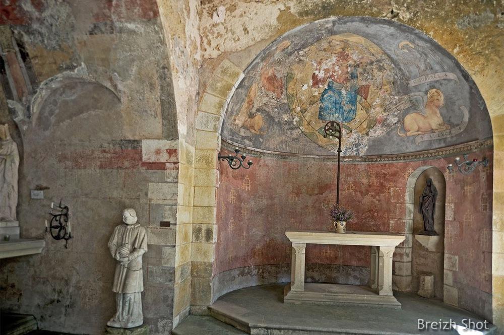 peintures murales - chapelle sainte-radegonde