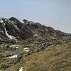 Passage près de la Cabane det Caillau (1456 m)
