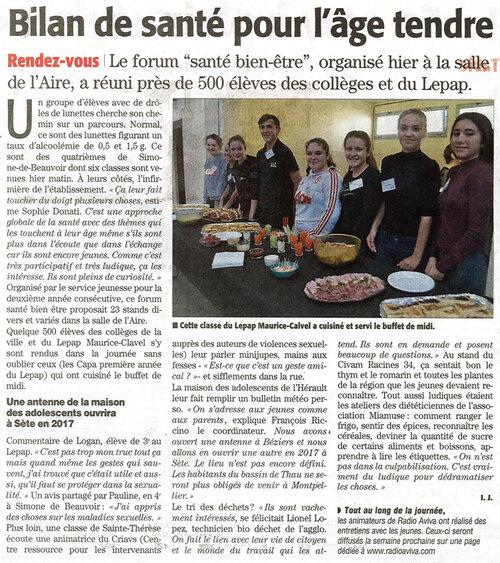 Forum Santé à Agde le vendredi 25 novembre 2016