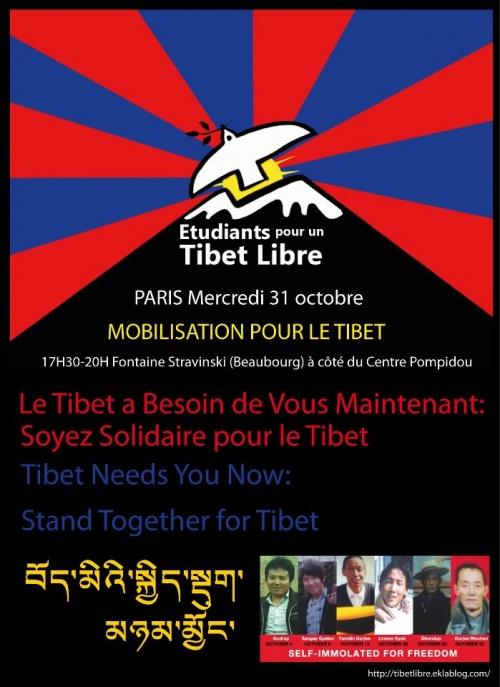 Manifestation pour le Tibet 31 octobre 2012 à Paris